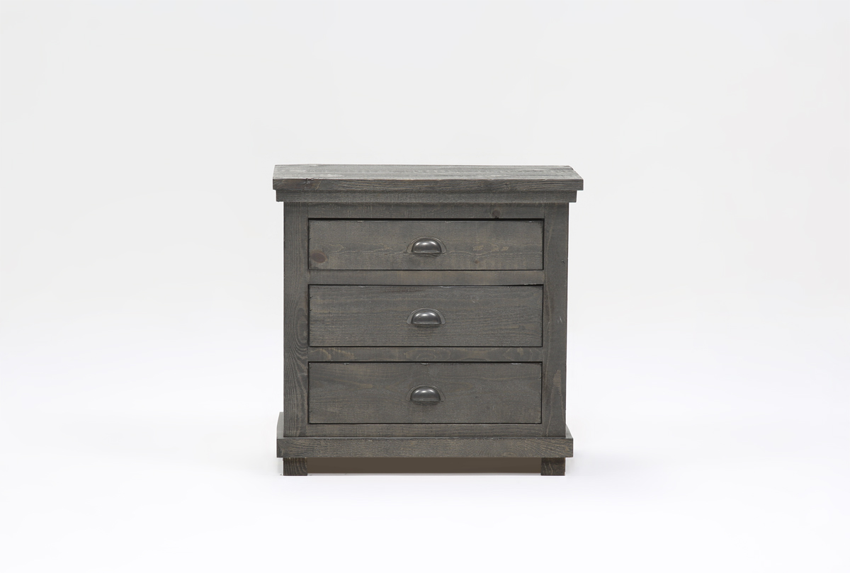 sinclair grey nightstand | living spaces Gray Night Stand