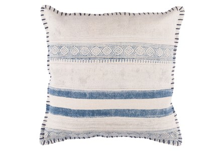Display product reviews for ACCENT PILLOW-LILY DENIM STRIPES 20X20