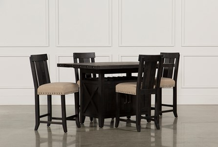 Display product reviews for KIT-JAXON 5 PIECE EXTENSION COUNTER SET W/WOOD STOOLS