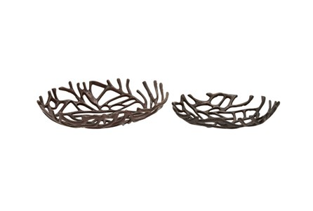 Display product reviews for 2 PIECE SET ALUMINUM DECO OVAL BOWLS