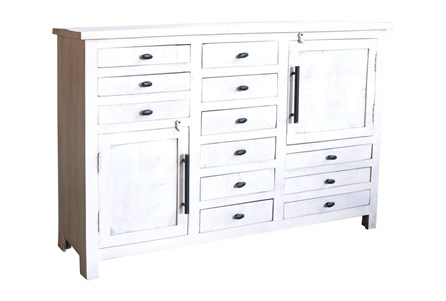Display product reviews for OTB WHITE WASH 12-DRAWER/2-DOOR CABINET