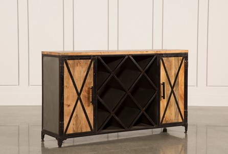 Display product reviews for OTB NATURAL MANGO 2-DOOR WINE SIDEBOARD