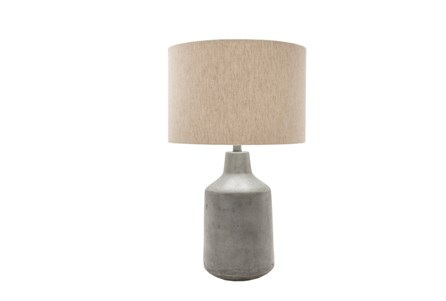 Display product reviews for TABLE LAMP-CONCRETE DRUM