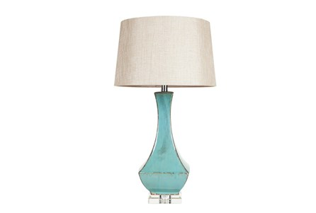 Display product reviews for TABLE LAMP-AQUA DRIP