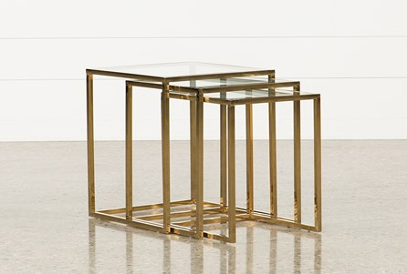 Display product reviews for CALINS 3 PIECE NESTING TABLES