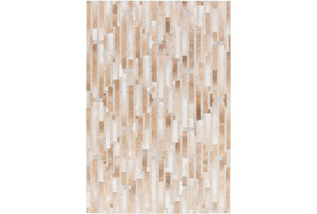 Display product reviews for 96X120 RUG-TAN MODERN STRIPES HIDE