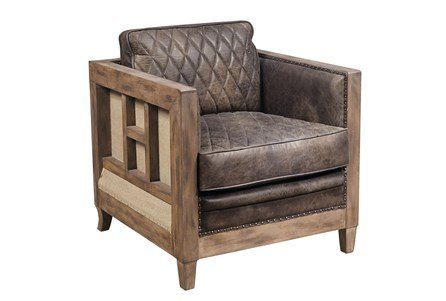 Display product reviews for OTB BERENGER LEATHER ACCENT CHAIR