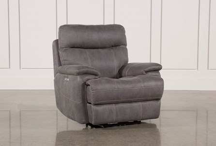 Display product reviews for DENALI LIGHT GREY POWER RECLINER W/POWER HEADREST