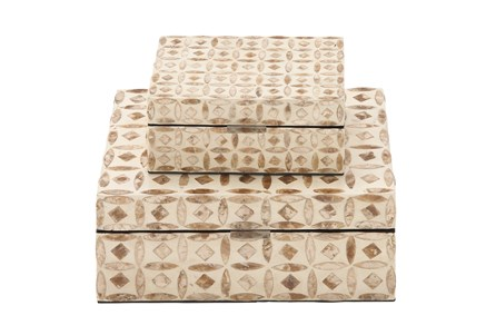 Display product reviews for 2 PIECE SET WOOD MOP INLAY BOXES
