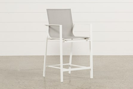Display product reviews for OUTDOOR BISCAYNE HIGH DINING CHAIR