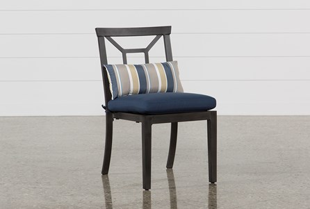 Display product reviews for OUTDOOR MARTINIQUE NAVY DINING CHAIR