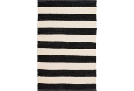 Display product reviews for 60X96 OUTDOOR RUG-BLACK & WHITE CABANA STRIPE