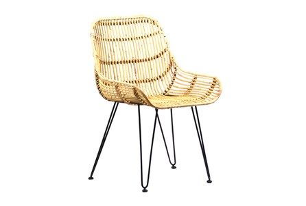 Display product reviews for OTB NATURAL RATTAN METAL CHAIR
