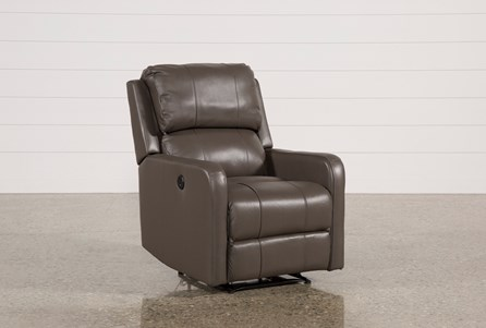 Display product reviews for STANFORD LEATHER GREY POWER WALLAWAY RECLINER