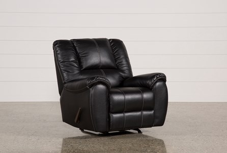 Display product reviews for SPIRO BLACK ROCKER RECLINER