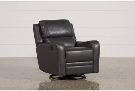 Display product reviews for SCORPIO DARK GREY SWIVEL GLIDER RECLINER