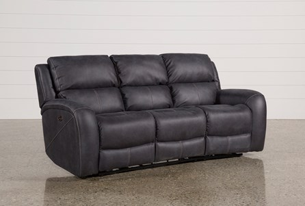 Display product reviews for DEEGAN CHARCOAL POWER RECLINING SOFA