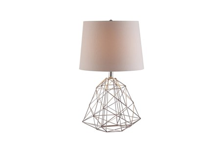 Display product reviews for TABLE LAMP-WIRE WEB SILVER