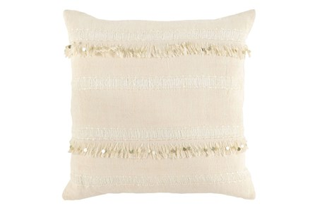 Display product reviews for ACCENT PILLOW-IVORY TASSEL STRIPES 22X22