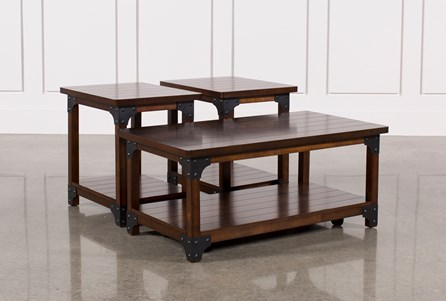 Coffee Table Sets Living Spaces - Discount end table sets
