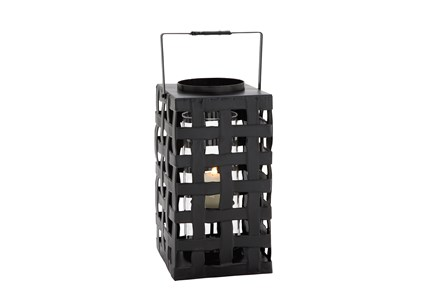 Display product reviews for BLACK METAL & GLASS LANTERN