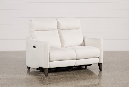 Display product reviews for MELINA BISQUE POWER RECLINING LOVESEAT W/USB