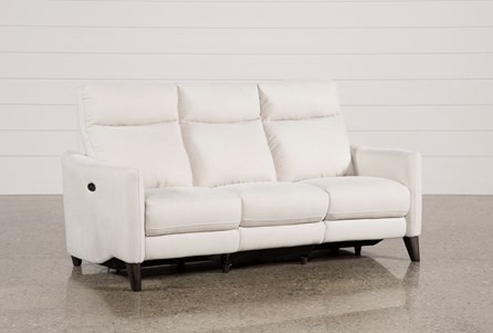 Display product reviews for MELINA BISQUE POWER RECLINING SOFA W/USB