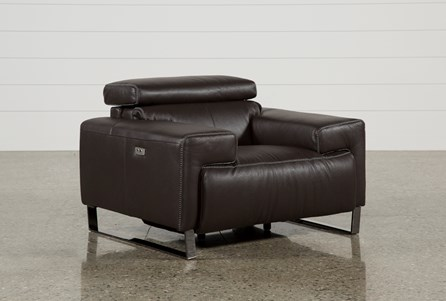 Display product reviews for CARLO LEATHER POWER RECLINER W/USB