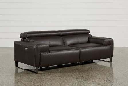 Display product reviews for CARLO LEATHER POWER RECLINING SOFA W/USB