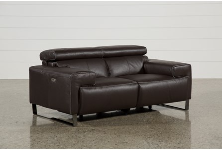 Display product reviews for CARLO LEATHER POWER RECLINING LOVESEAT W/USB