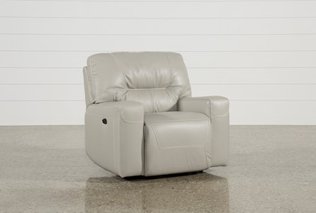 Display product reviews for RENALDO LEATHER POWER RECLINER
