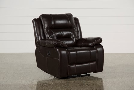 Display product reviews for WAYNE II LEATHER POWER RECLINER W/USB
