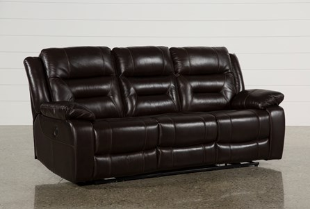 Display product reviews for WAYNE II LEATHER POWER RECLINING SOFA W/USB