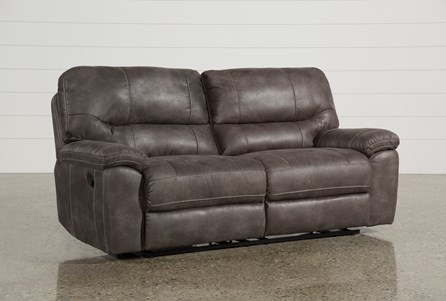 Display product reviews for NEVE GREY RECLINING SOFA