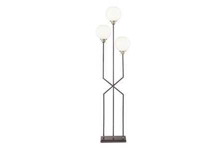 Display product reviews for FLOOR LAMP-CROSS BASE WHITE GLOBE 3-LIGHT