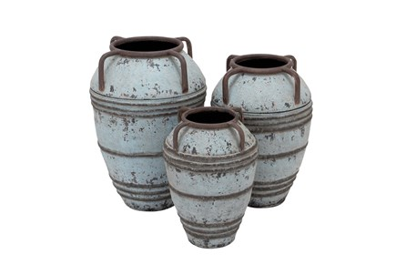 Display product reviews for 3 PIECE SET WHITE WASH VASES