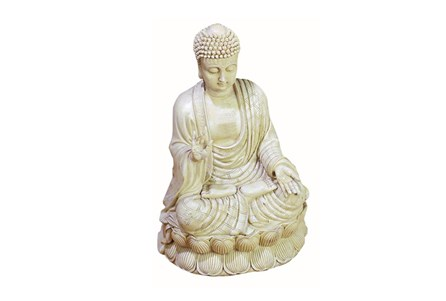 Display product reviews for WHITE CERAMIC BUDDHA SITTING