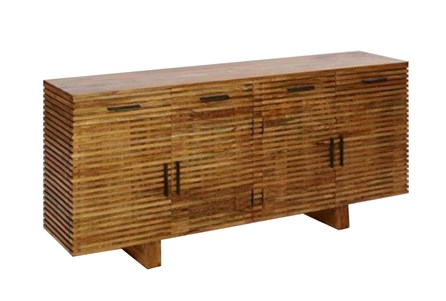 Display product reviews for OTB CORRUGATED NATURAL 4-DRAWER SIDEBOARD
