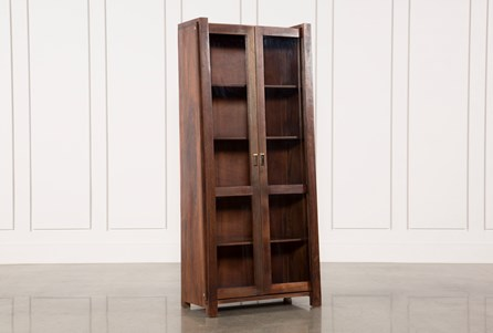Display product reviews for OTB ACACIA WOOD SLANT TALL CABINET