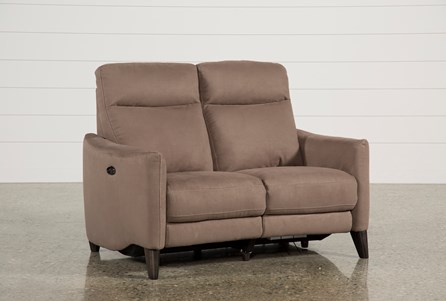 Display product reviews for MELINA COCOA POWER RECLINING LOVESEAT W/USB