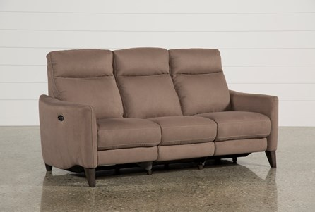 Display product reviews for MELINA COCOA POWER RECLINING SOFA W/USB