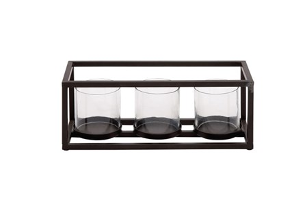 Display product reviews for 3 VOTIVE METAL AND GLASS CANDLEHOLDER