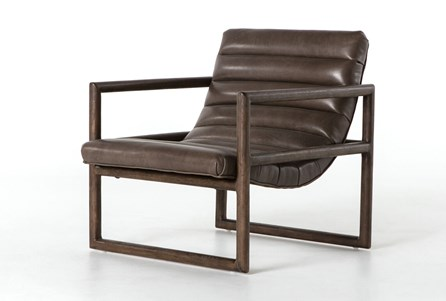 Display product reviews for OTB DAKOTA FOSSIL & RUBBED SIENNA BROWN ACCENT CHAIR