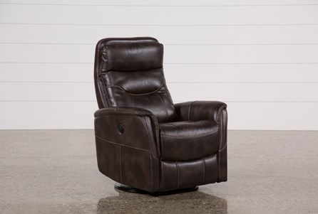 Display product reviews for GANNON TRUFFLE POWER SWIVEL RECLINER W/BUILT-IN BATTERY