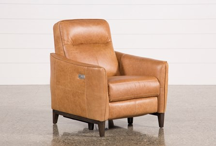 Display product reviews for TORBEN BROWN LEATHER POWER RECLINER W/USB