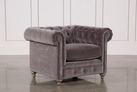 Display product reviews for MANSFIELD GRAPHITE VELVET CHAIR