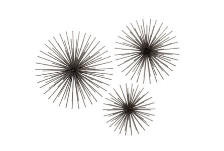 Display product reviews for 3 PIECE SET STARBURST WALL DECOR
