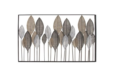 Display product reviews for 37 INCH STEEL LEAF WALL DECOR