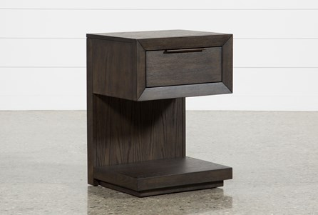 Display product reviews for PIERCE 1-DRAWER NIGHTSTAND WITH USB AND POWER OUTLETS