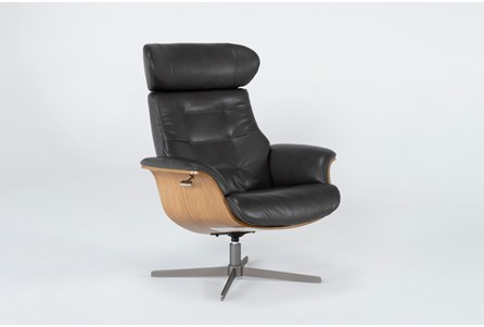 Display product reviews for AMALA DARK GREY LEATHER RECLINING SWIVEL CHAIR